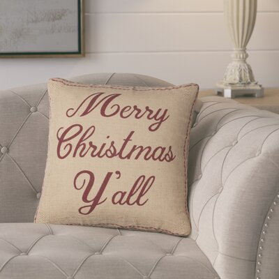 Caulkins Merry Christmas Ya'll Throw Pillow