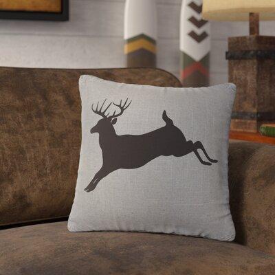 Nakayama Jumping Deer Throw Pillow Color: Gray