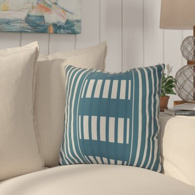 Bartow Beach Blanket Outdoor Throw Pillow Size: 20 H x 20 W x 3 D, Color: Teal