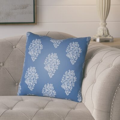Glengormley Throw Pillow Size: 18 H x 18 W x 4 D, Color: Blue/White