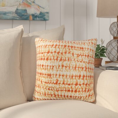 Dov Outdoor Throw Pillow Color: Orange, Size: 18 H x 18 W