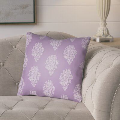 Glengormley Throw Pillow Size: 18 H x 18 W x 4 D, Color: Purple/White