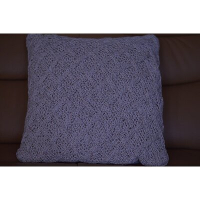 Fenster Lurex Cross Cotton Throw Pillow