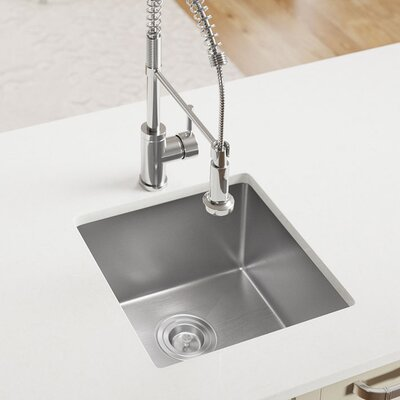 Stainless Steel 17 x 17 Undermount Kitchen Sink