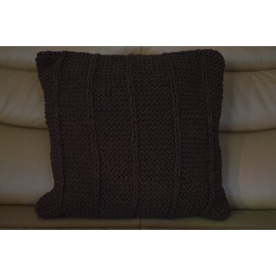 Fendley Faded Cotton Throw Pillow Color: Brown