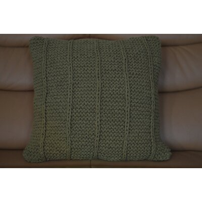 Fendley Faded Cotton Throw Pillow Color: Green