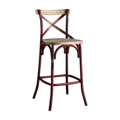 Wessels 29 Bar Stool Color: Antique Red