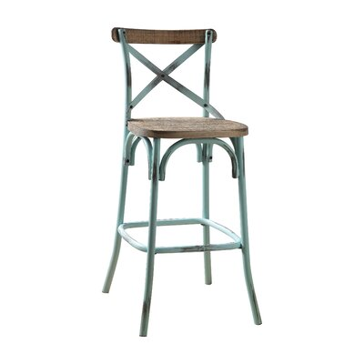 Wessels 29 Bar Stool Color: Antique Turquoise
