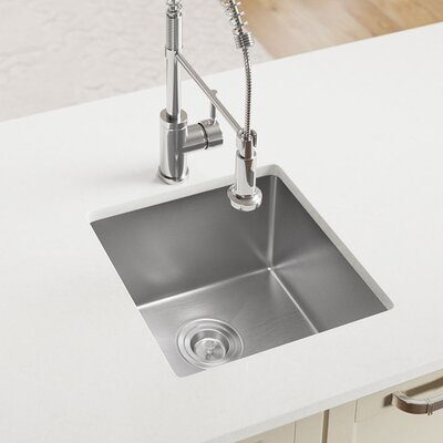 Stainless Steel 17 x 17 Undermount Kitchen Sink with Additional Accessories