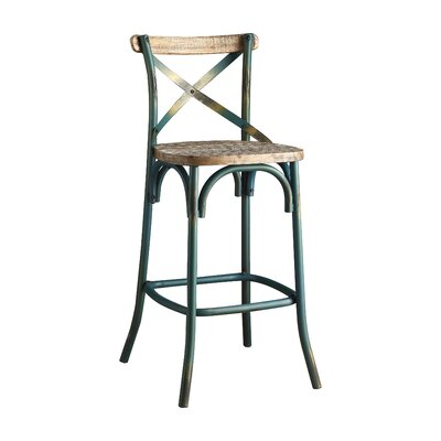Wessels 29 Bar Stool Color: Antique Sky