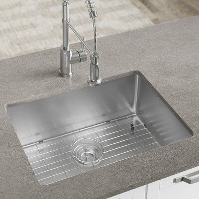 Stainless Steel 26 x 18 Undermount Kitchen Sink with Additional Accessories