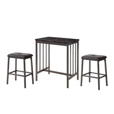 Mizpah 3 Piece Counter Height Dining Set
