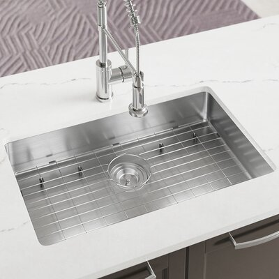 Stainless Steel 29 x 18 Undermount Kitchen Sink with Additional Accessories