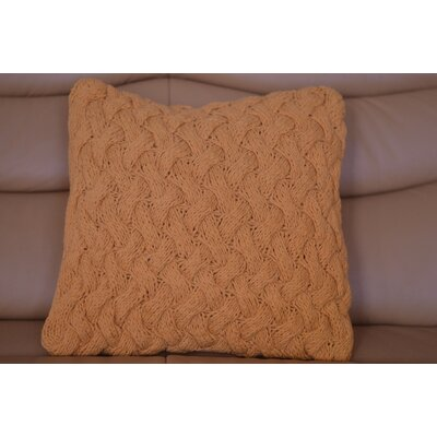 Fendley Faded Tie Cross Cotton Throw Pillow Color: Orange