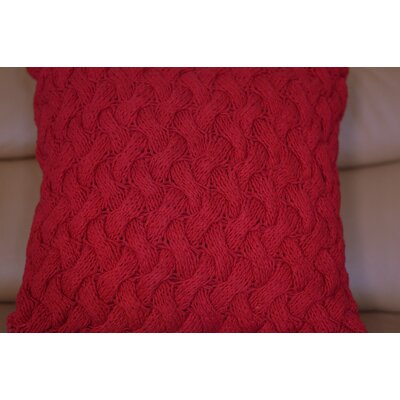 Fendley Faded Cross Cotton Throw Pillow Color: Red