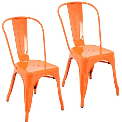 Northwest Hills Stackable Rust Resistant Dining Chair Color: Orange