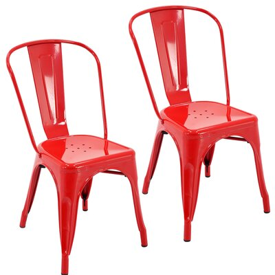 Northwest Hills Stackable Dining Chair Color: Red