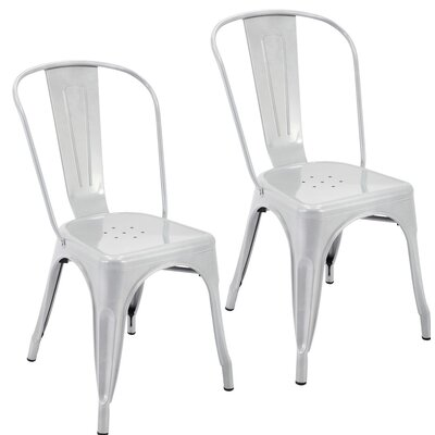 Northwest Hills Stackable Rust Resistant Dining Chair Color: Silver