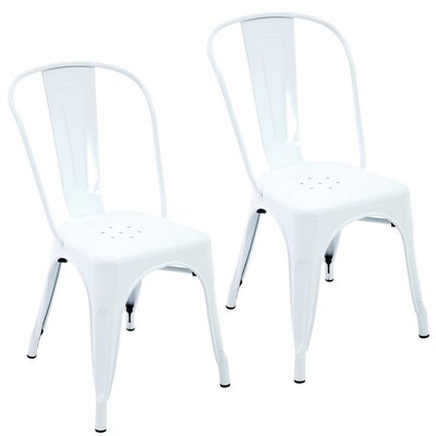 Northwest Hills Stackable Rust Resistant Dining Chair Color: White