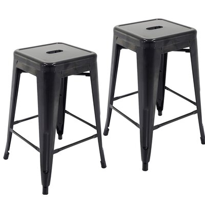 Northwick 24 Bar Stool Color: Black