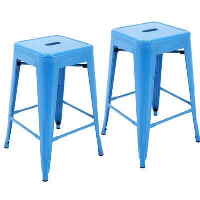 Northwick 24 Bar Stool Color: Blue