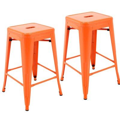 Northwick 24 Bar Stool Color: Orange