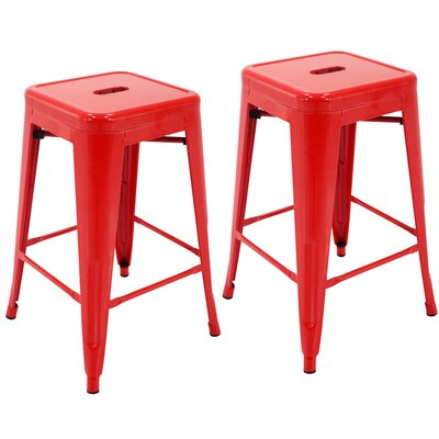 Northwick 24 Bar Stool Color: Red