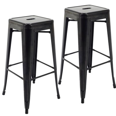 Norton St Philip 30.3 Bar Stool Color: Black