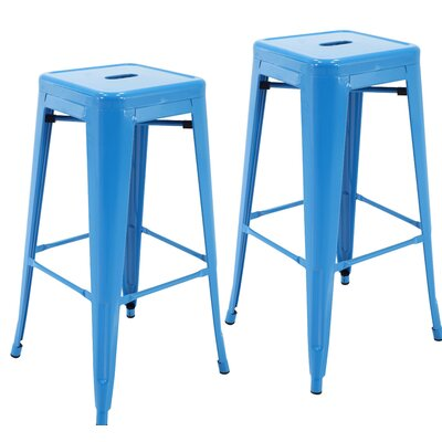 Norton St Philip 30.3 Bar Stool Color: Blue