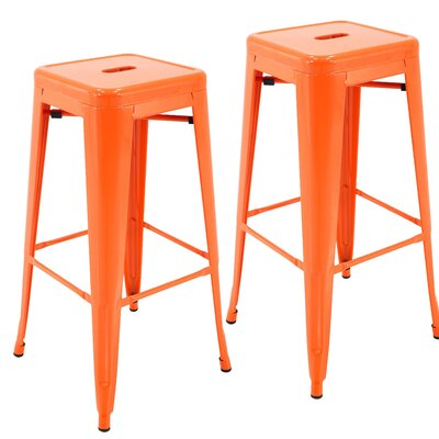 Norton St Philip 30.3 Bar Stool Color: Orange