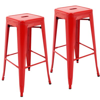 Norton St Philip 30.3 Bar Stool Color: Red
