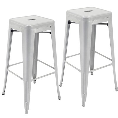 Norton St Philip 30.3 Bar Stool Color: Silver