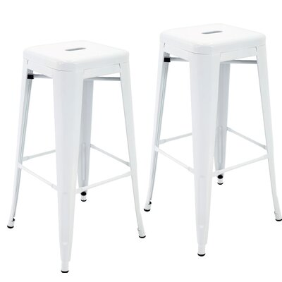 Norton St Philip 30.3 Bar Stool Color: White