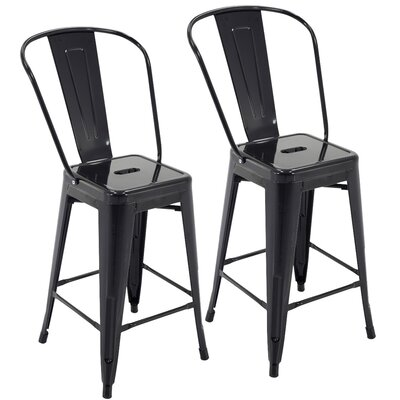 Nostrand 24 Bar Stool Color: Black