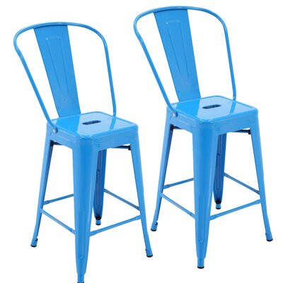 Nostrand 24 Bar Stool Color: Blue