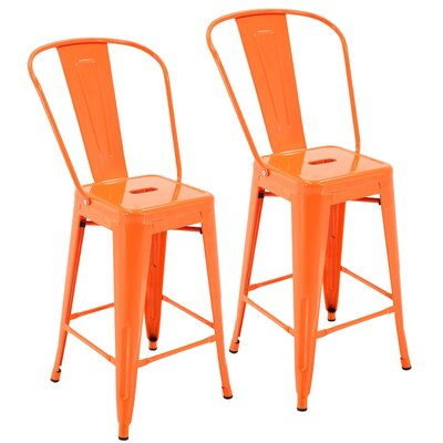 Nostrand 24 Bar Stool Color: Orange