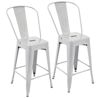 Nostrand 24 Bar Stool Color: Silver