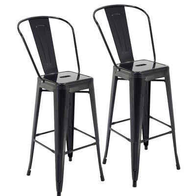 Nott 30.3 Bar Stool Color: Black