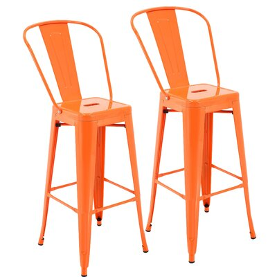 Nott 30.3 Bar Stool Color: Orange