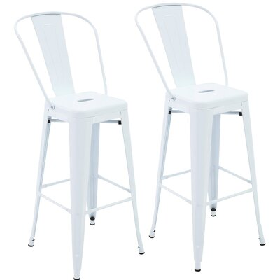 Nott 30.3 Bar Stool Color: White