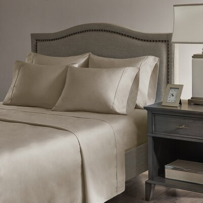 Sherley 800 Thread Count 6 Piece Sheet Set Size: King, Color: Khaki