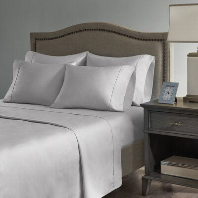 Sherley 800 Thread Count 6 Piece Sheet Set Size: Queen, Color: Gray