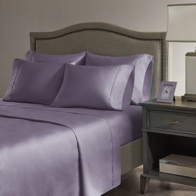 Sherley 800 Thread Count 6 Piece Sheet Set Size: California King, Color: Purple