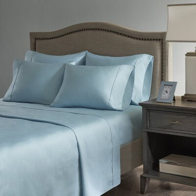 Sherley 800 Thread Count 6 Piece Sheet Set Size: King, Color: Aqua