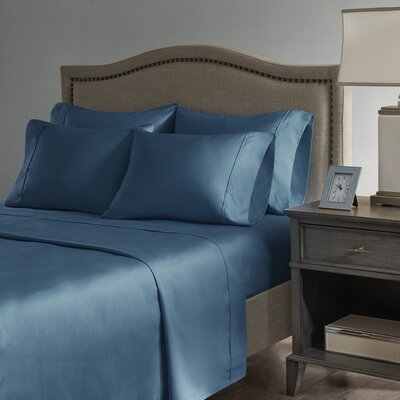 Sherley 800 Thread Count 6 Piece Sheet Set Size: California King, Color: Teal