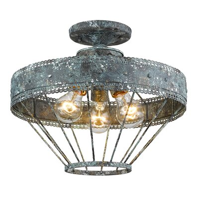 Mummert 3-Light Semi Flush Mount