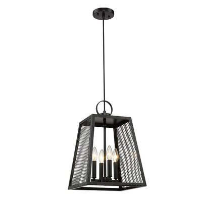 Diedrich 4-Light Mini Pendant Shade Color: Black