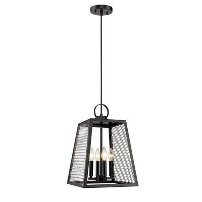 Diedrich 4-Light Mini Pendant Shade Color: Chrome