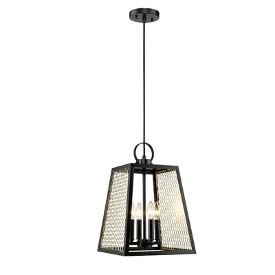 Diedrich 4-Light Mini Pendant Shade Color: Satin Brass