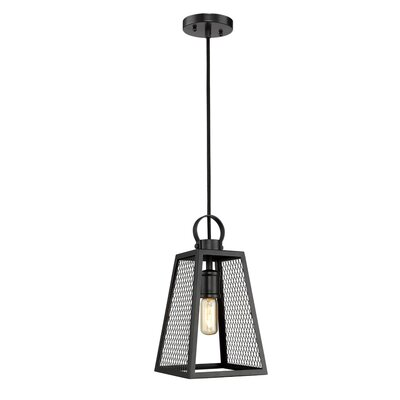 Diedrich 1-Light Mini Pendant Shade Color: Black
